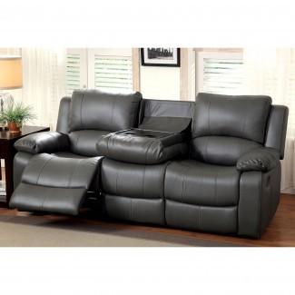Furniture of America Rathbone Sofá reclinable con taza ...