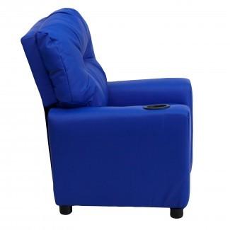 Flash Furniture Sillón reclinable moderno de cuero para niños con ...