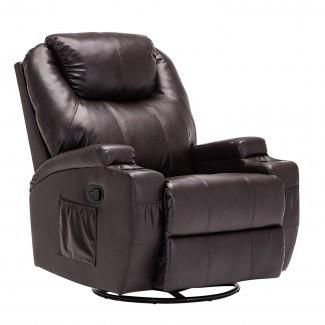Mecor - Sillón reclinable de cuero para sofá y sillón ergonómico ...
