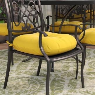 Cojín para silla de comedor para interior / exterior Sarver (juego de 4)