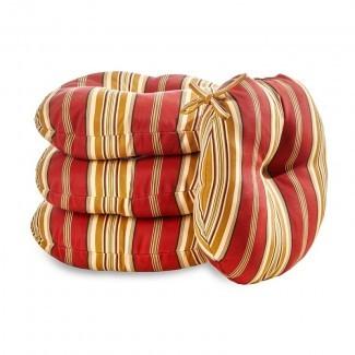 Cojín para silla de comedor interior / exterior Peery Roma Stripe (juego de 4)