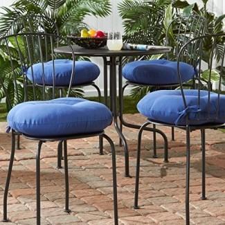 Greendale Home Fashions Cojín redondo para silla de bistró para exteriores de 18 pulgadas (juego de 4)