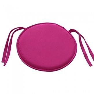 Cojines redondos para sillas HomeMiYN para asientos al aire libre Cojines para cojines para sillas de interior con lazos para oficina, cocina, comedor, patio, 15,7 pulgadas