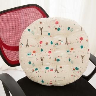 Juego de cojines para sillas redondas Cojín Asiento para patio, exteriores, interiores ...