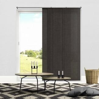 """Paneles deslizantes ajustables de primera calidad, persianas verticales cortadas a medida, gris náutico (tela que oscurece la habitación) - Hasta 80 """" Ancho x 96 """"de alto"""