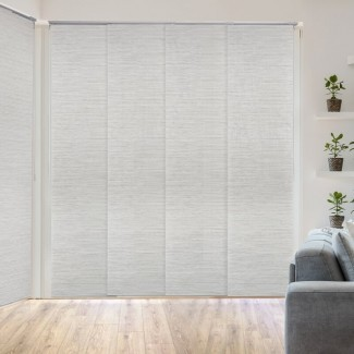 Persiana de oscurecimiento de habitación deslizante ajustable de lujo Blanco / Persiana vertical gris