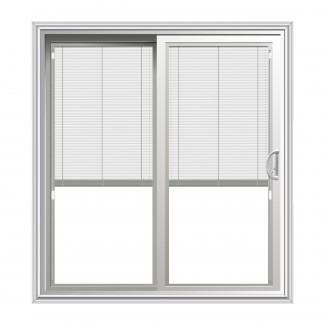 Puertas de patio corredizas con persianas entre vidrio - diseños de vidrio