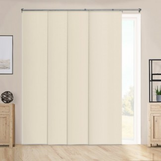 """Paneles deslizantes ajustables de primera calidad, persianas verticales cortadas a medida, bronceado de alto rendimiento (tela opaca) - Hasta 80 """"de ancho x 96"""" de alto"""