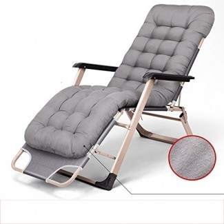Sillas mecedoras MEIDUO Cama plegable Zero Gravity Sillón para patio de gran tamaño con acolchado Soporte de sillón reclinable ajustable 300 kg 3 colores