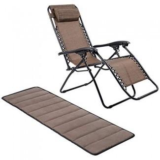 APEX LIVING Silla All Seasonal Zero Gravity Sillón reclinable ajustable con cojín de gamuza extraíble para oficina, interior, exterior, descanso, ocio