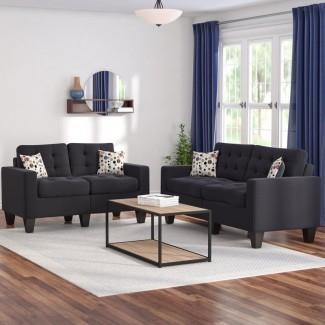 Conjunto de sala de estar de 2 piezas Amia