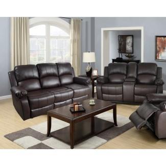Juego de sala de estar reclinable de 2 piezas Harton