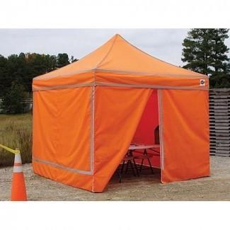 King Canopy's Orange Hi-Visibility 10 'x 10' Pop-up Canopy. ..