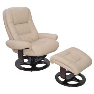 Jacque reclinable giratorio manual con otomana