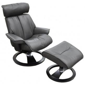 Santa Monica Ergo reclinable giratorio manual con otomana