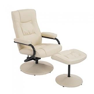 Juego reclinable y otomano de cuero PVC HOMCOM