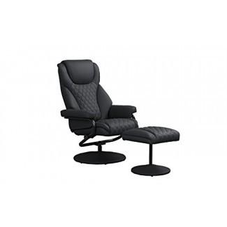Silla giratoria de oficina con reposapiés, sillas reclinables ejecutivas y de juego de cuero sintético