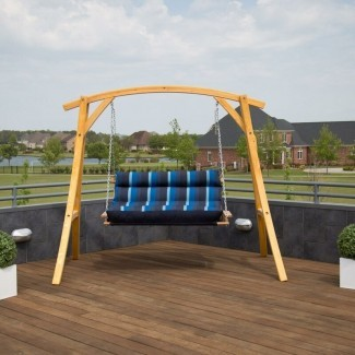 Winding Deluxe Porch Swing con soporte