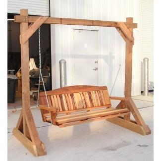 Columpios de porche de cedro hechos a mano, sillas Adirondack y ...