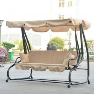 Columpio / cama de porche exterior cubierto independiente | Outdoor ...