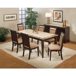 Juego de mesa de comedor de granito | HomesFeed