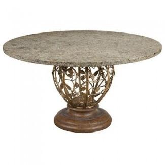 Mesas de comedor de granito Mesa de comedor redonda de piedra superior ...
