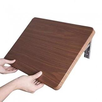 Mesa plegable de madera montada en la pared plegable, partición de una palabra para la pared de la sala de baño / cocina / sala de estudio, mesa colgante para ahorrar espacio