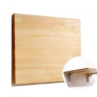 YXX- Mesas de hoja abatible montadas en la pared para trabajo pesado, grandes bancos de trabajo rectangulares plegables de madera Estaciones de trabajo para computadora