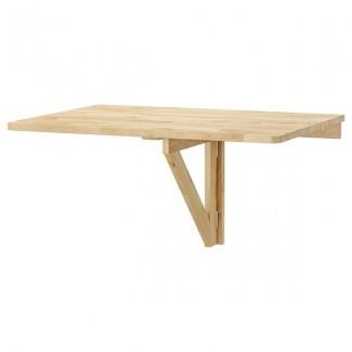 NORBO Mesa abatible suspendida - abedul - IKEA