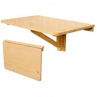 SoBuy Mesa abatible de pared abatible, comedor plegable de madera ...