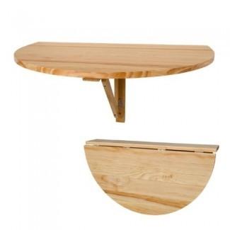 Mesa de hoja abatible de madera maciza FWT10-N