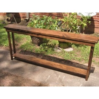 mesa de sofá de 72 pulgadas de largo