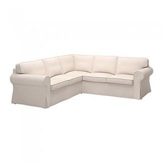 IKEA Ektorp Funda de cubierta deslizante seccional, 4 asientos en esquina, Lofallet Beige, 403.216.88