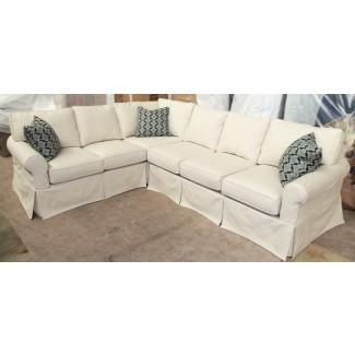 Fundas de sofá seccionales Slipcover para sofás cuadrados rojos ...