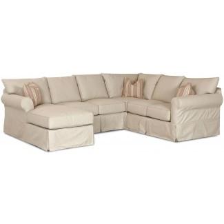 Muebles: Sofá seccional con tapa deslizante para cómoda ...