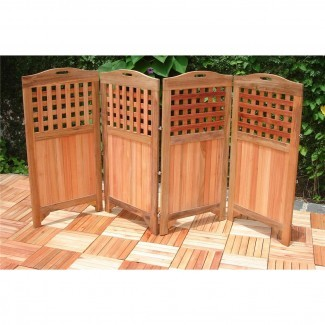 Pantalla de privacidad de madera para exteriores VIFAH® - 218674, Patio ...