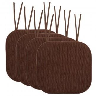 Cojín de silla de comedor antideslizante Honeycomb de espuma viscoelástica Cojín de silla de comedor interior / exterior (juego de 4)