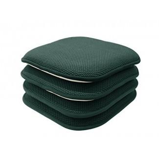 GoodGram - Paquete de 4 almohadillas / cojines antideslizantes Honeycomb Premium Comfort Memory Foam - Colores surtidos