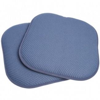 Honeycomb Memory Foam - Juego de almohadillas para silla antideslizantes de 2 piezas, azul ...