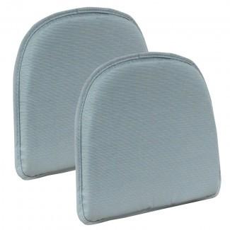 Cojines de silla azul antideslizante Melody Gripper , Juego de 2