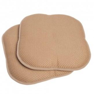 Juego de almohadillas para silla de 2 piezas antideslizantes de espuma de memoria Honeycomb ...
