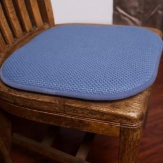 Almohadilla para silla antideslizante de 2 piezas Honey Foam Memory Antideslizante, Azul. ..