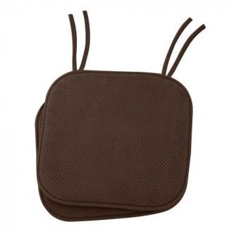 Almohadillas para silla con cojín de espuma con memoria antideslizante con lazos -