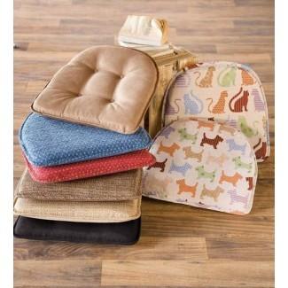 "Cojín de silla con respaldo de látex antideslizante, 16 ""L x 15"" W x 2 ""H ..."