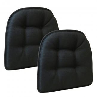 Cojines de silla con agarre Omega antideslizantes, sin pinzas, juego de 2