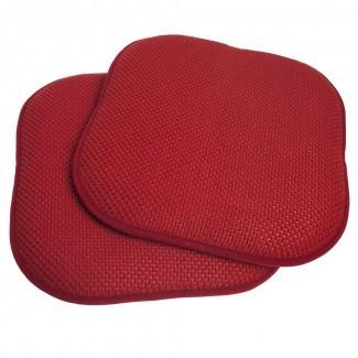 Almohadilla para silla antideslizante de 2 piezas con espuma de memoria Honeycomb ...