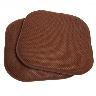 Juego de cojín de silla antideslizante de 2 piezas con espuma de memoria Honeycomb ...