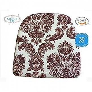 """Amazon.com: almohadillas de silla de cocina Sideli Foam antideslizantes 16 """"x16"""
