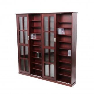 Gabinete de almacenamiento con puertas de vidrio   HomesFeed