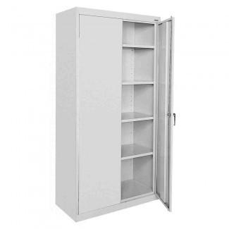Gabinete de almacenamiento de metal con puertas - Ideas de decoración Ideas de decoración